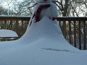 Snowman survived blizzard in Algona Ia