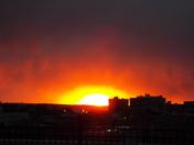 'Firey' sunset 2-7-16...downtown KCMO