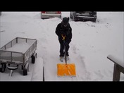Jay updates storm report and shows correct driveway shoveling.