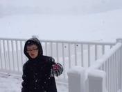 My six year old meteorologist