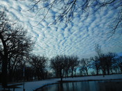 Clouds today 2-10-2016 at Ta Ha Zouka Park in Norfolk NE