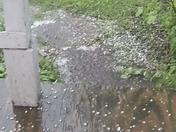 pea sized hail -Elkhorn 4/27