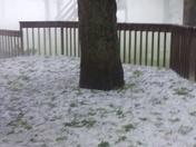 Freak hail storm Centreville, MD