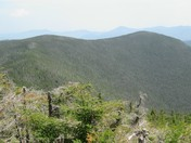 A hazy day in the White Mountains of New Hampshire