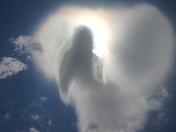 Angel in the vloud