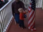 My son and his hero ( great grandfather veteran)