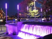 Fountains and lights at Smale