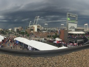 Clouds over TD Ameritrade Park