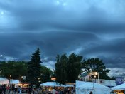Ominous looking clouds just to the north of the Summerfest grounds.