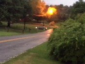 Power Line on fire
