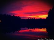 Sunset over Scott Pond
