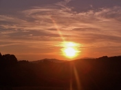 Sunset in Alleghany county..