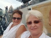 Lori and Gina at bucs today 21st