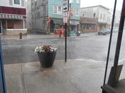 More rain/hail in Saranac Lake this afternoon!