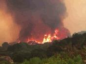 Fire burns across Black rock