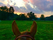 The best way to see a beautiful sunset!