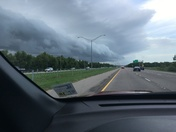 Clouds moving in