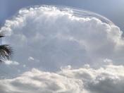 Cumulus storm clouds