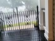 Hail Coming in the Front Door!