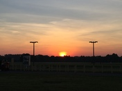 Sunrise on 8/26/2016 from Smith Reynolds Airport