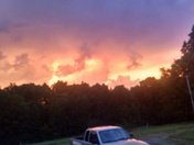 Sunset through the thinderstorms