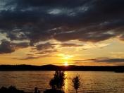 Sunset on Lake Winnipesaukee Aug. 27, 2016
