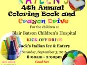 Kaylen's 4th Annual Coloring Book & Crayon Drive