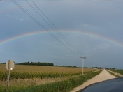 Full Rainbow around 5:15 pm on way home from work to Gowrie.
