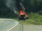 Car fire Farrs bridge road