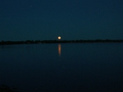 Moonrise on the lake in Alburgh