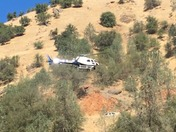 Emergency CHP Helicopter Rescues Mountain Biker near Auburn