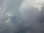We have bolts of lighting strong winds and loud thunder but no rain just yet