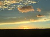 Cornfield sunset -near Monroe