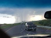 Rain clouds over south jackson