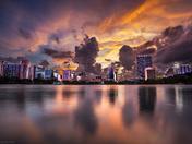 Sunset at Lake Eola, Downtown Orlando