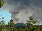Loma Fire - Within first few hours of fire - View from high ridge in Scotts Vall