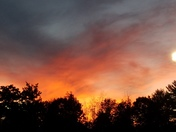 Fall evening sunset
