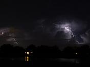 Lightning storm near West Melbourne