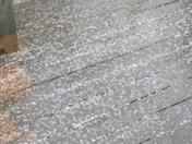 Pea sized hail on the deck.
