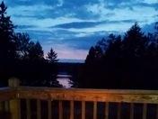 Campfire sunset .