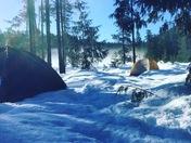 Snow camping in Frog Lake Oregon