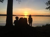 Siblings too sunset