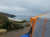 Ocean front property, camping at Crystal Cove