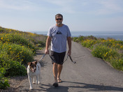 Strolling the bluffs above Crystal Cove