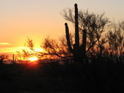 Sunset at Picacho Peak