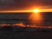 Fiery waves of Lake Michigan