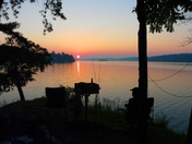 Sunrise at Dewolf Point State Park