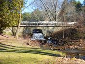 Stone Bridge and Waterfall at Chenango Valley State Park