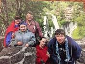 FAMILY AT BURNEY FALLS CA