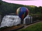Hot air balloon with middle falls